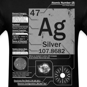Silver Ag 47 Element t shirt - Men's T-Shirt