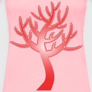 Colorful Valentine Hearts Tree 13 No Background - Women's Premium T-Shirt