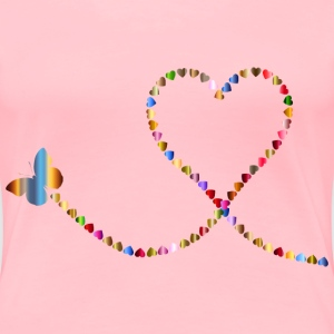 Butterfly Hearts Trail 3 - Women's Premium T-Shirt