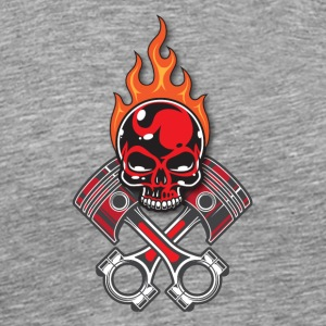 Fire Skull - Men's Premium T-Shirt