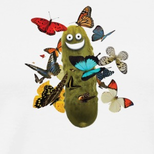 Pickle with Butterflies - Men's Premium T-Shirt