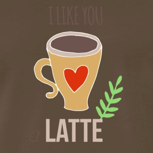 I Like You a Latte Happy Valentine's Day - Men's Premium T-Shirt