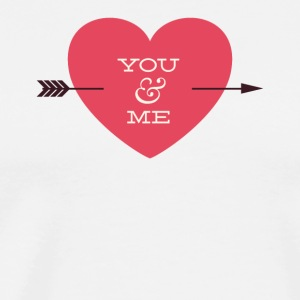 You And Me Arrow Through Heart Valentine - Men's Premium T-Shirt