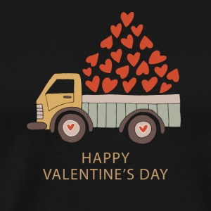Truckload of Love - Happy Valentine's Day - Men's Premium T-Shirt