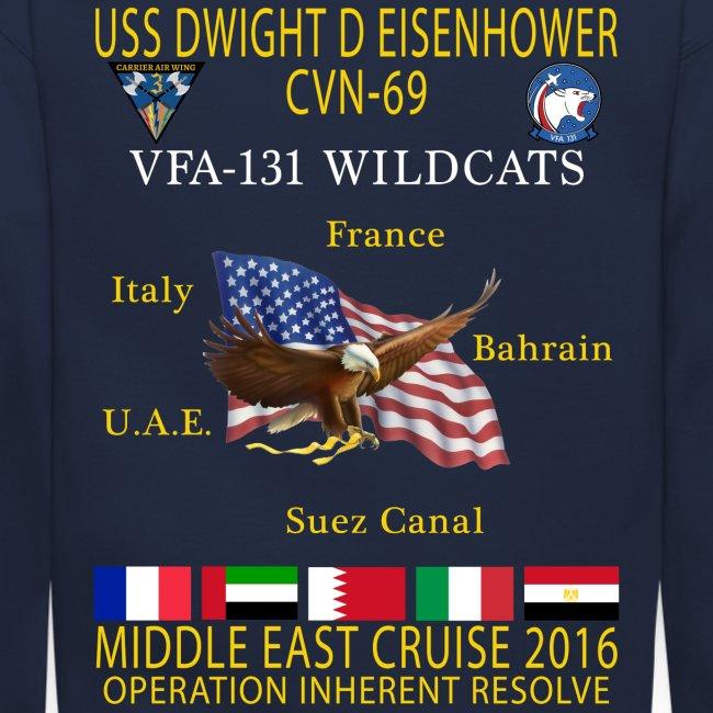 IKE AIRWING - VFA-131 WILDCATS 2016 CRUISE SWEATSHIRT