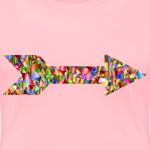 Chromatic Low Poly Arrow - Women's Premium T-Shirt