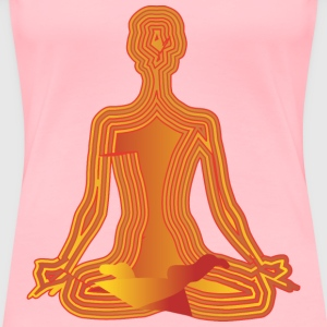 orange lotus - Women's Premium T-Shirt