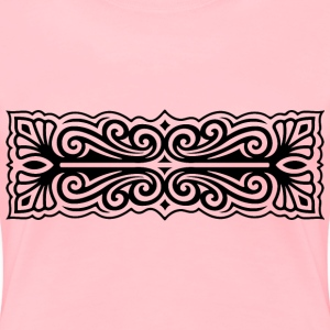 Ornate Flourish Design 25 - Women's Premium T-Shirt