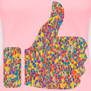 Polyprismatic Tiled Thumbs Up - Women's Premium T-Shirt