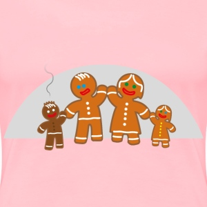 Family life of the gingerbread man - Women's Premium T-Shirt