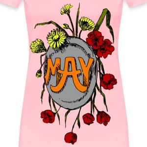 Illustrated months (May, colour) - Women's Premium T-Shirt