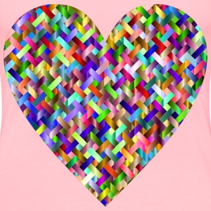Colorful Heart Lattice Weave 2 - Women's Premium T-Shirt
