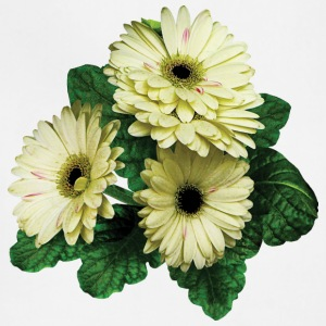 Three White Gerbera Daisies Aprons - Adjustable Apron
