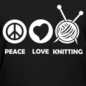 PEACE LOVE KNITTING 121212819.png T-Shirts - Women's T-Shirt