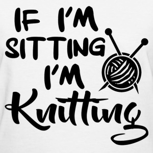 knitting 1218928192812.png T-Shirts - Women's T-Shirt