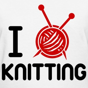 KNITTING LOVE 1112121212.png T-Shirts - Women's T-Shirt