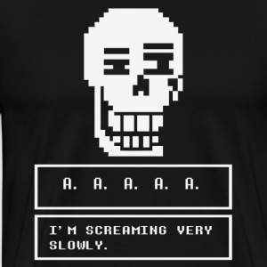 undertale skull - Men's Premium T-Shirt