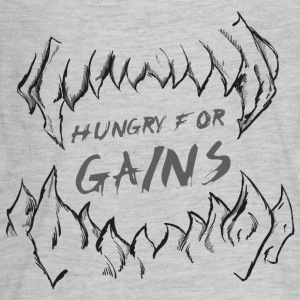 Hungry for Gains - Kids' Premium Long Sleeve T-Shirt