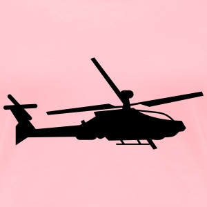 Military helicopter (silhouette) - Women's Premium T-Shirt