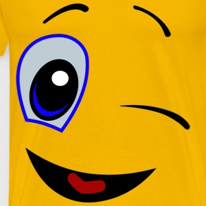 Winking Smiley Face - Men's Premium T-Shirt
