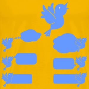 Social Media Blue Bird Icons - Men's Premium T-Shirt