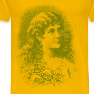 Vintage Flower Girl 02 01 - Men's Premium T-Shirt