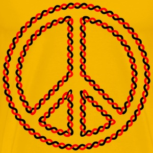 Intertwined Peace Sign - Men's Premium T-Shirt