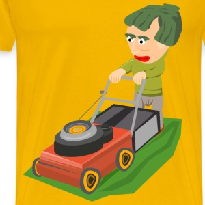 Mowing the lawn - Men's Premium T-Shirt
