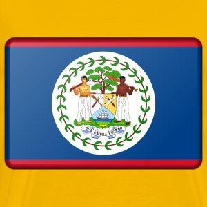 Belize flag (bevelled) - Men's Premium T-Shirt