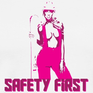 Safety First Pink - Men's Premium T-Shirt