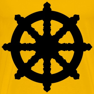 Ornate Dharma Wheel Silhouette - Men's Premium T-Shirt