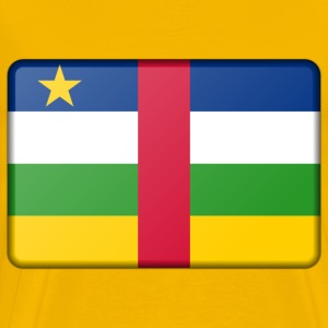 Central African Republic flag (bevelled) - Men's Premium T-Shirt