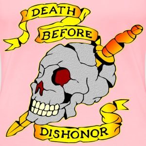 Death Before Dishonor Skull & Dagger Tattoo  - Women's Premium T-Shirt