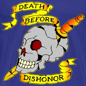 Death Before Dishonor Skull & Dagger Tattoo  - Men's Premium T-Shirt