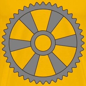 40tooth gear with radial spokes - Men's Premium T-Shirt