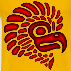 Crimson Stylized Mexican Eagle Silhouette - Men's Premium T-Shirt