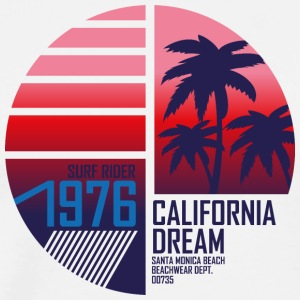 surf-rider-california-dream-santa monica-beach - Men's Premium T-Shirt