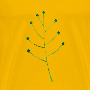 Calligraphic Illustration Leaf, Twig, Plant 1 - Men's Premium T-Shirt