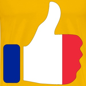 Thumbs Up France With Stroke - Men's Premium T-Shirt
