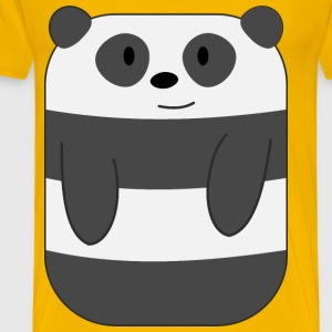 Cute Cartoon Panda with Hands - Men's Premium T-Shirt