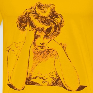 Worried woman 05 Blur - Men's Premium T-Shirt