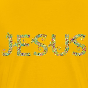 Polyprismatic Jesus Typography No Background - Men's Premium T-Shirt