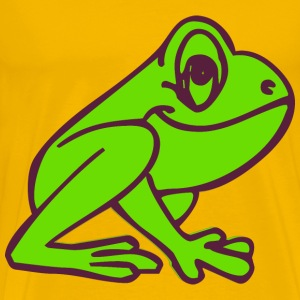 Cartoon Frog Profile - Men's Premium T-Shirt