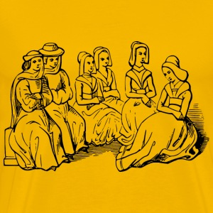 15th century chinwaggers - Men's Premium T-Shirt