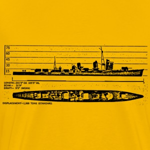 Shigure Battleship - Men's Premium T-Shirt