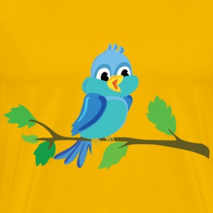 Cute Cartoon Bird Chirping - Men's Premium T-Shirt