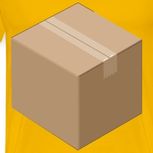 3D Isometric Cardboard Box - Men's Premium T-Shirt