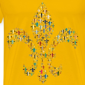Colorful Fleur De Lis Fractal 4 - Men's Premium T-Shirt