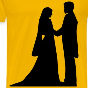 Marriage Silhouette - Men's Premium T-Shirt
