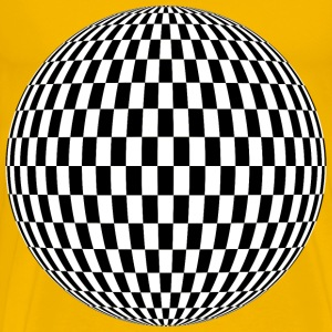 Checkered Sphere - Men's Premium T-Shirt